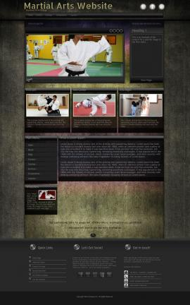 Ultraviolet Martial-arts Website Template