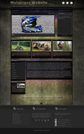 Ultraviolet Motocross Website Template
