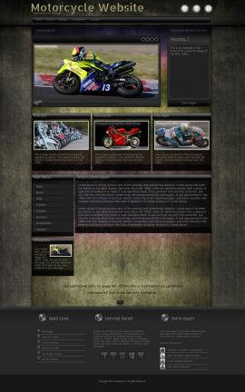 Ultraviolet Motorcycle Website Template