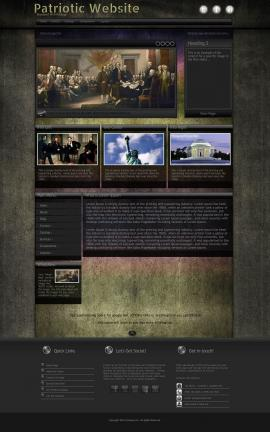 Ultraviolet Patriotic Website Template
