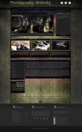 Ultraviolet Photography Website Template
