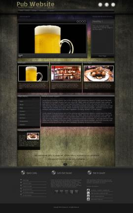 Ultraviolet Pub Website Template