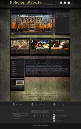 Ultraviolet Religion Website Template