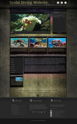 Ultraviolet Scuba-diving Website Template