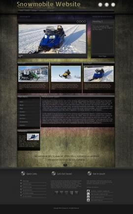 Ultraviolet Snowmobile Website Template