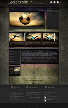 Ultraviolet Soccer Website Template