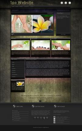 Ultraviolet Spa Website Template