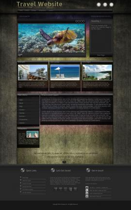 Ultraviolet Travel Website Template