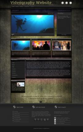 Ultraviolet Videography Website Template