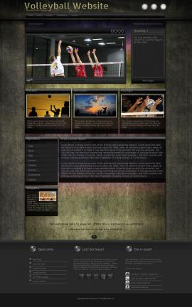 Ultraviolet Volleyball Website Template
