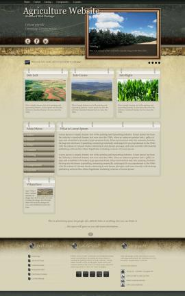 Evolution Agriculture Website Template