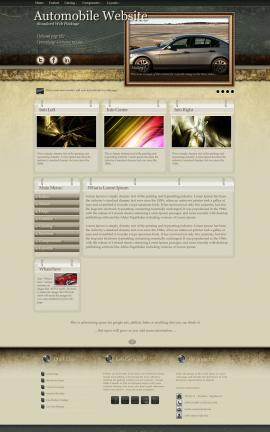 Evolution Automobile Website Template