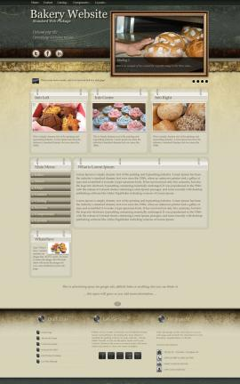 Evolution Bakery Website Template
