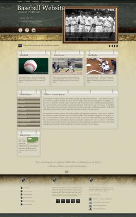 Evolution Baseball Website Template