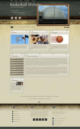 Evolution Basketball Website Template