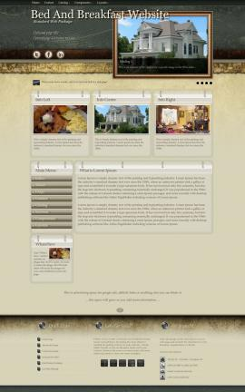 Evolution Bed-and-breakfast Website Template