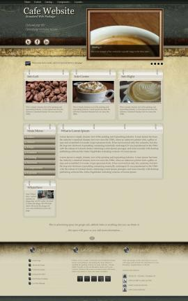 Evolution Cafe Website Template