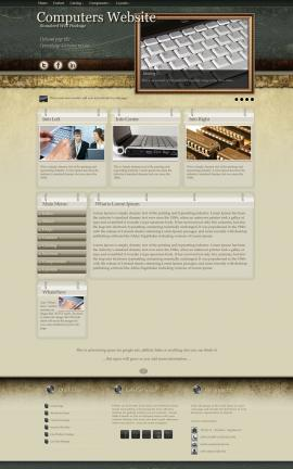 Evolution Computers Website Template