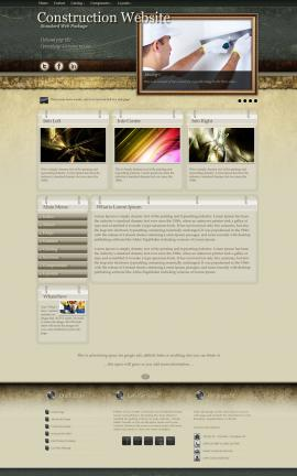 Evolution Construction Website Template