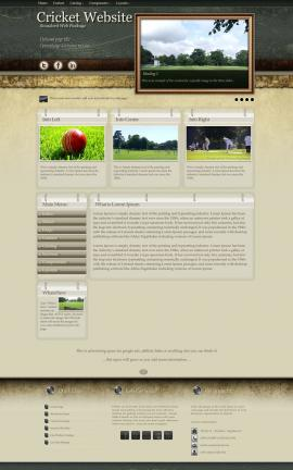 Evolution Cricket Website Template