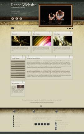 Evolution Dance Dreamweaver Template