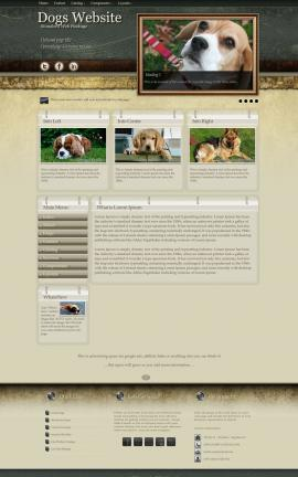 Evolution Dogs Website Template