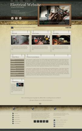 Evolution Electrical Website Template