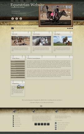 Evolution Equestrian Website Template