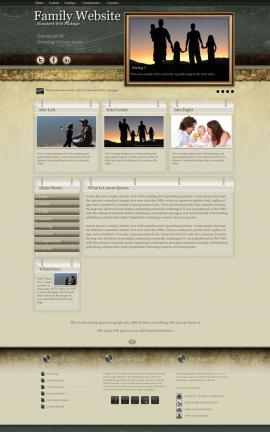 Evolution Family Website Template