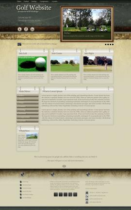 Evolution Golf Website Template