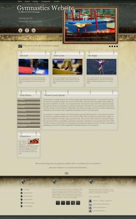 Evolution Gymnastics Website Template