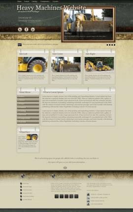 Evolution Heavy-machines Website Template