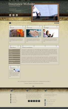 Evolution Insurance Website Template