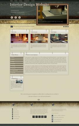 Evolution Interior-design Website Template