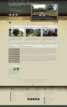 Evolution Landscaping Website Template