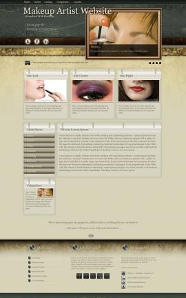 Evolution Makeup-artist Website Template