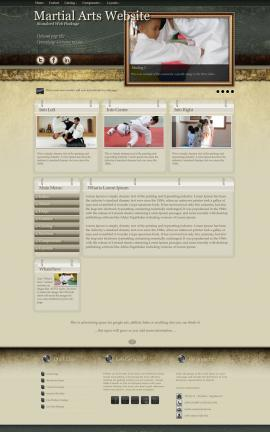 Evolution Martial-arts Website Template