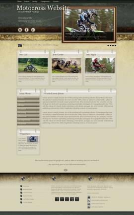 Evolution Motocross Website Template
