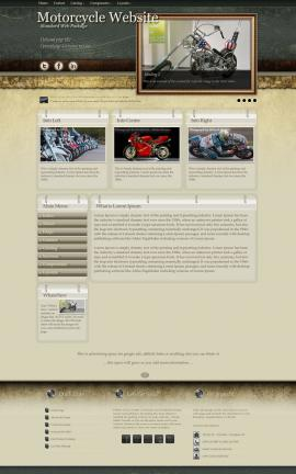 Evolution Motorcycle Website Template
