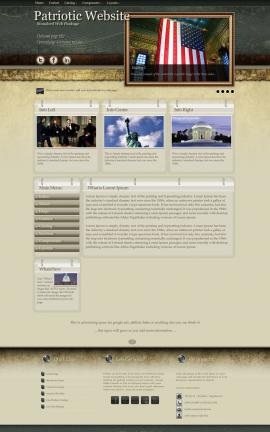 Evolution Patriotic Website Template