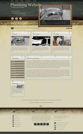 Evolution Plumbing Website Template