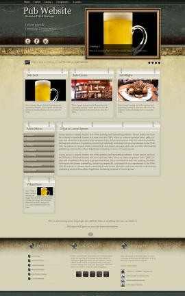 Evolution Pub Website Template