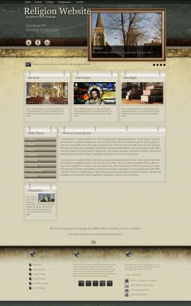 Evolution Religion Website Template