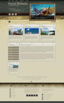Evolution Travel Website Template