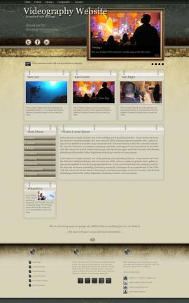 Evolution Videography Website Template