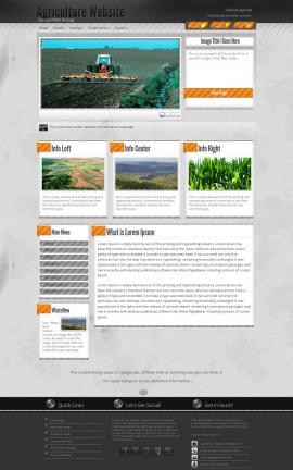 Innovation Agriculture Website Template