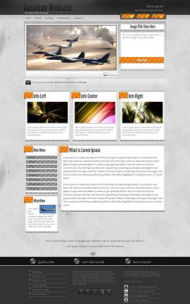 Innovation Aviation Dreamweaver Template