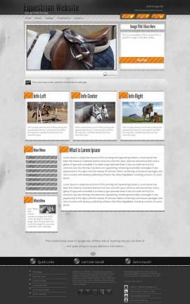 Innovation Equestrian Website Template