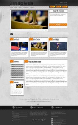 Innovation Gymnastics Dreamweaver Template