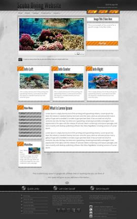 Innovation Scuba-diving Website Template
